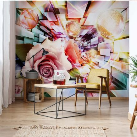 Giant non-woven wallpaper murals Rose Abstract Bubble